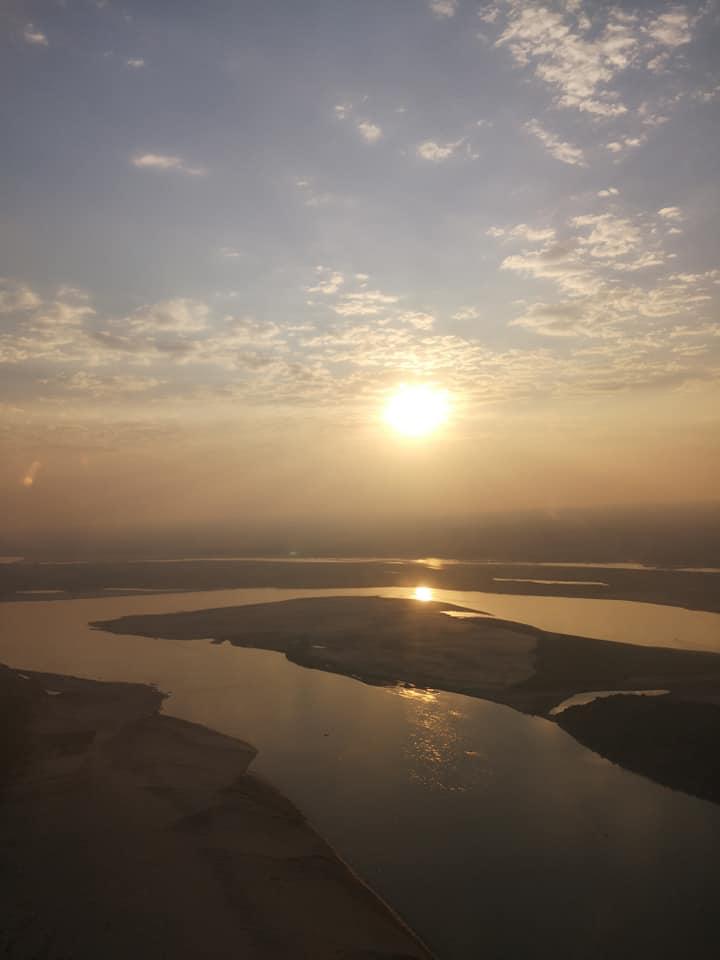 วิวระหว่างทางบินไปเมืองพุกาม