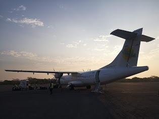 เครื่องบินโดยสารเพื่อไปสนามบินเมืองพุกาม