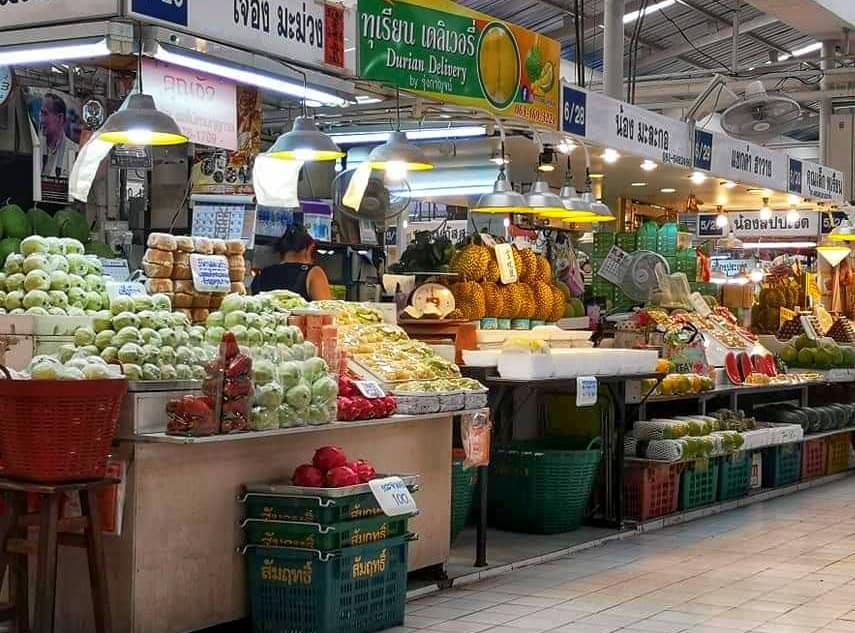 ตลาดโซนผลไม้สดตามฤดูกาล