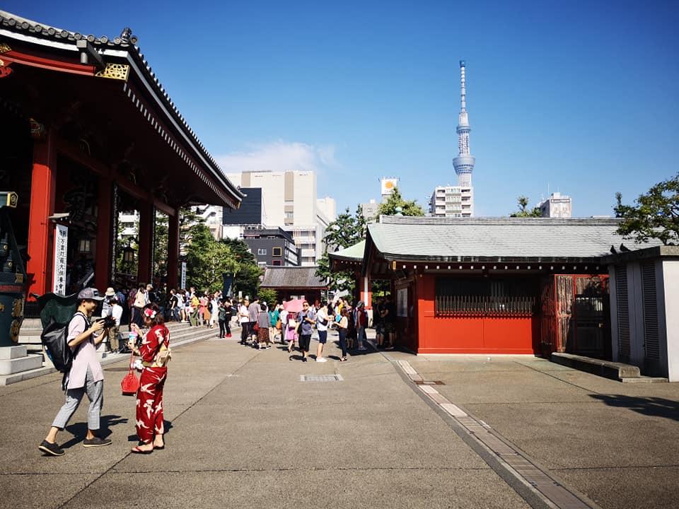 จากวัดจะมองเห็นตึก Tokyo Sky Tree